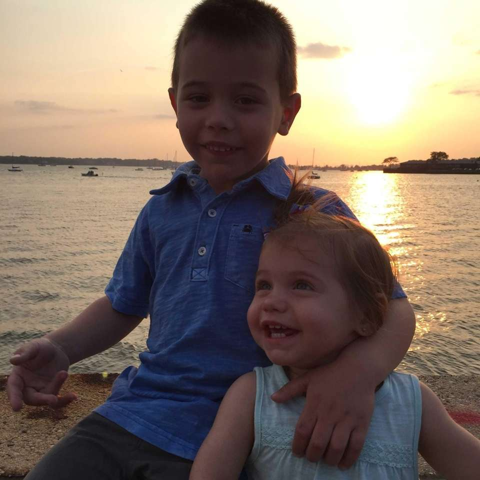 Gavin and Payton Anci enjoying the sunset in