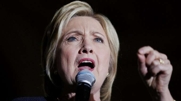 Hillary Clinton speaks during a campaign event on