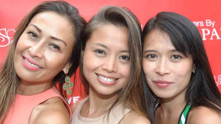From left: Samantha Lopez, Ana Sicat and Anna