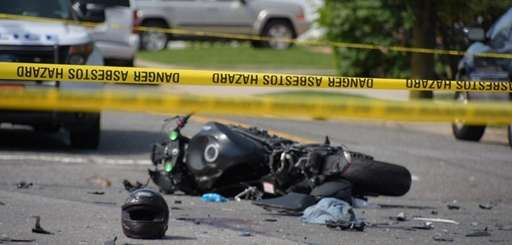 A motorcyclist was killed after a crash in