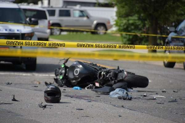 A motorcyclist was killed after a crash with