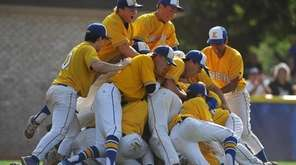 Kellenberg players celebrate after their 5-4 win over