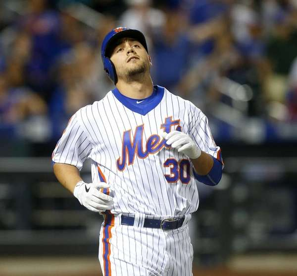 Pinch hitter Michael Conforto of the New York