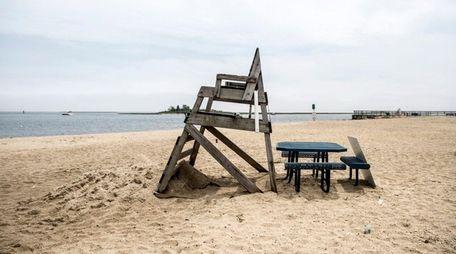 Philip Healey Beach in Massapequa, shown above Monday,