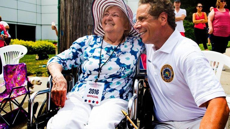Gov. Andrew Cuomo shares a moment with Yolanda