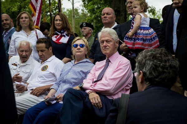 Presidential candidate Hillary Clinton, former President Bill Clinton