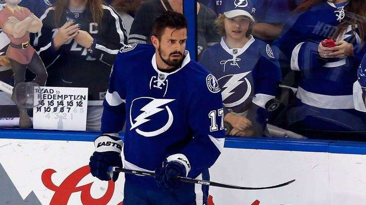 Alex Killorn of the Tampa Bay Lightning looks