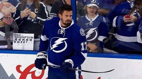 Alex Killorn of the Tampa Bay Lightning looks