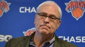 New York Knicks president Phil Jackson began his