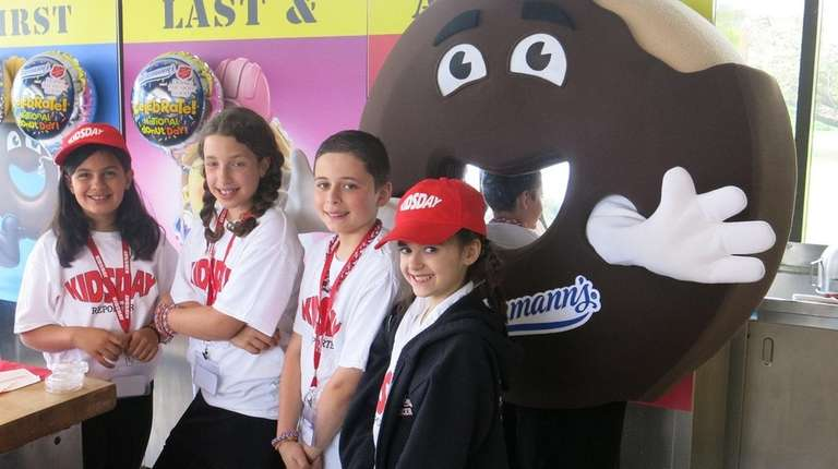 Kidsday reporters, from left, Gia Caiazzo, Kylie Person,