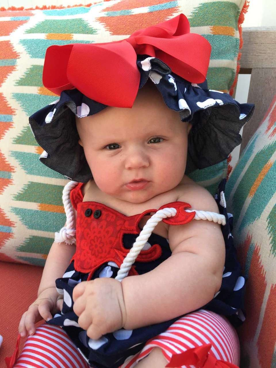 Kennedy Rose celebrating her first Memorial Day.