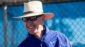 New York Mets general manager Sandy Alderson looks