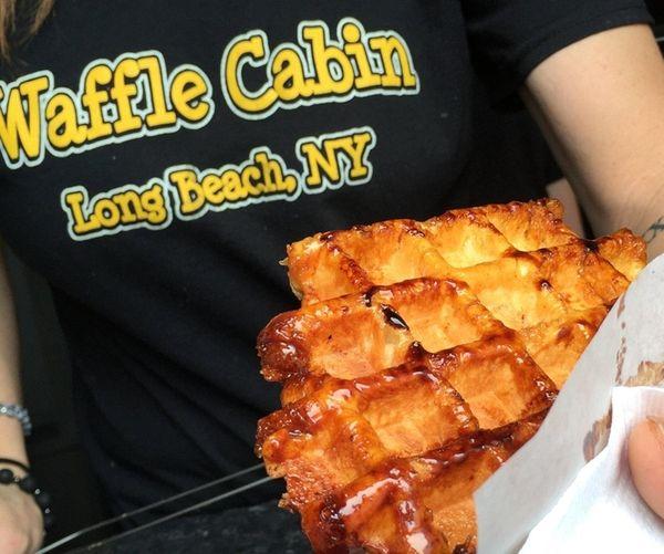 Waffle Cabin in Long Beach serves hot, fresh