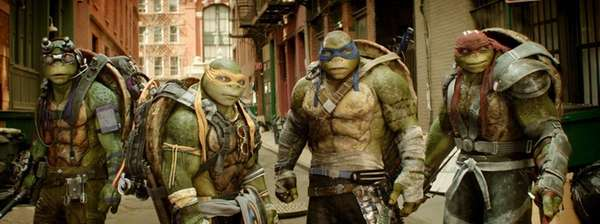 From left, Donatello, Michelangelo, Leonardo and Raphael in