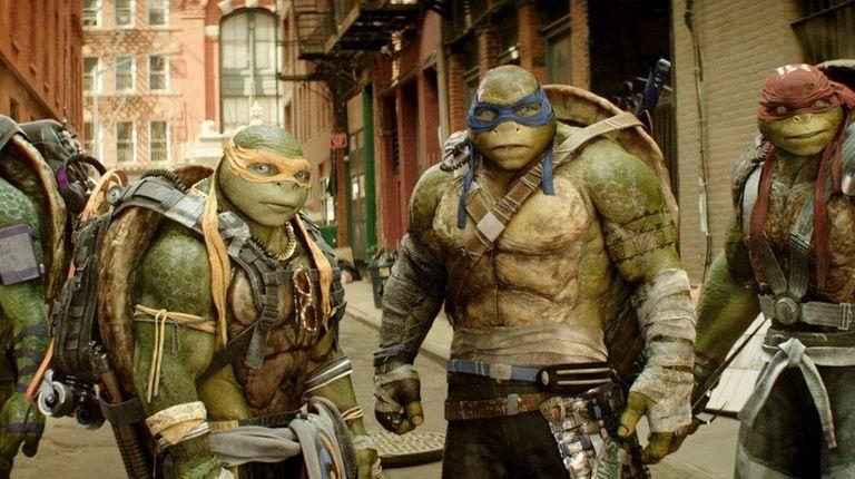 From left, Donatello, Michelangelo, Leonardo and Raphael in
