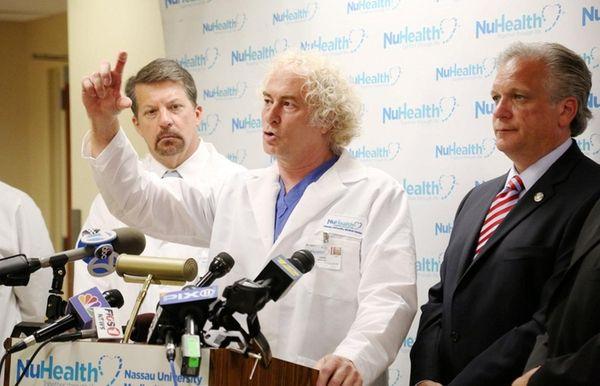 From left, Nassau University Medical Center CEO Victor