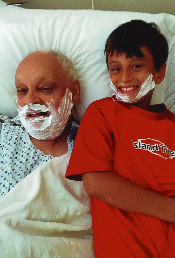 Kidsday reporter Giuliano Camporini and his granddad Angel