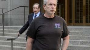 Steven McClatchey exits a federal courthouse in Manhattan