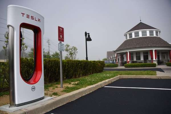 Tesla Motors is setting up a charging station