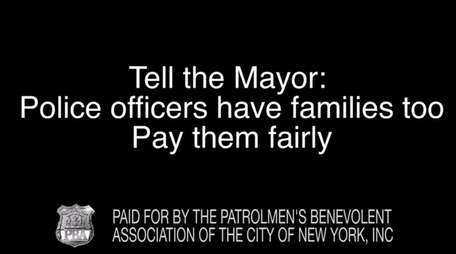 A TV ad produced by the city's Patrolmen's
