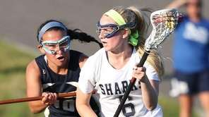 Eastport-South Manor's Kaeli Huff, who had five goals,