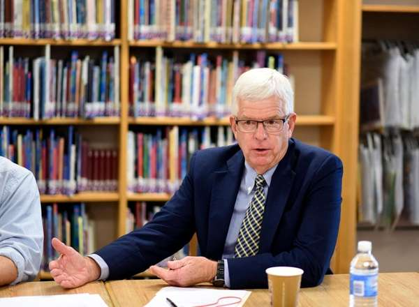 Tuckahoe School superintendent Allan Gerstenlauer speaks during a