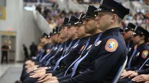 175 new Nassau police officers graduate during a