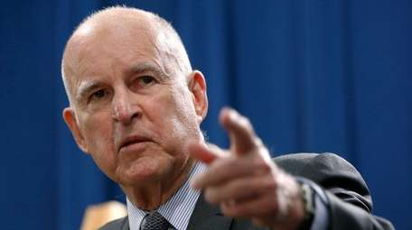 California Gov. Jerry Brown, shown earlier in the