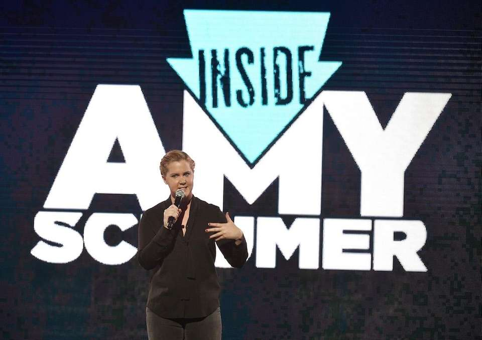 Amy Schumer speaks onstage during the Comedy Central