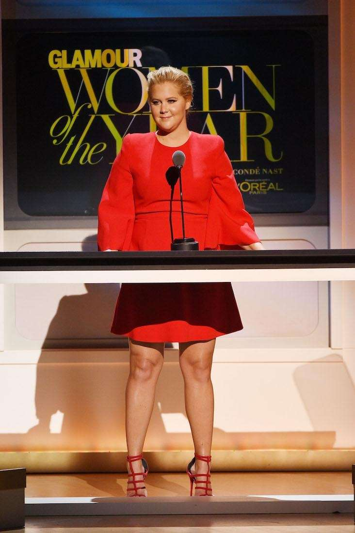 Amy Schumer speaks onstage at the 2015 Glamour