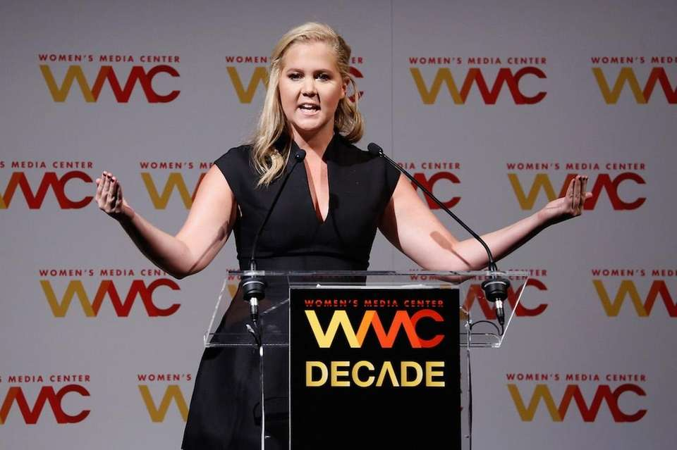 Amy Schumer onstage during The Women's Media Center