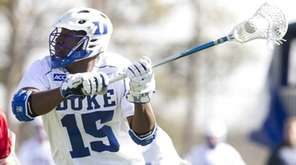Duke lacrosse player Myles Jones, formerly of Whitman