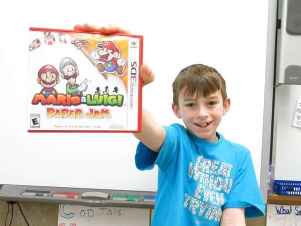 Kidsday reporter Andrew Miglino with the Mario &