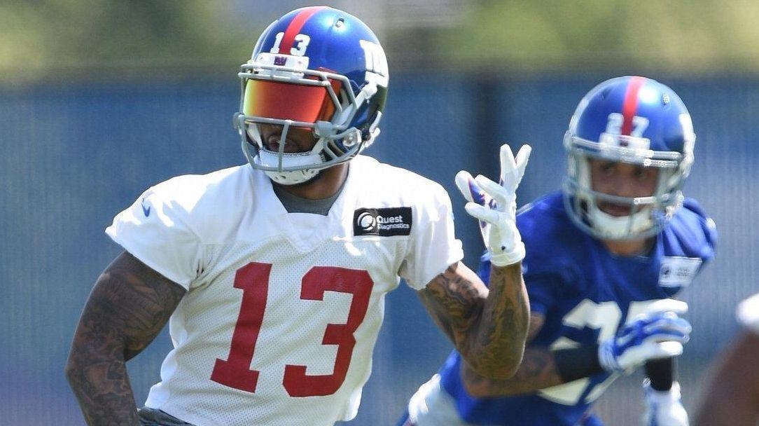 New York Giants wide receiver Odell Beckham runs