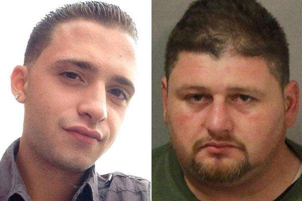 Jonathan Sobrane, right, 37, of Freeport, faces upgraded