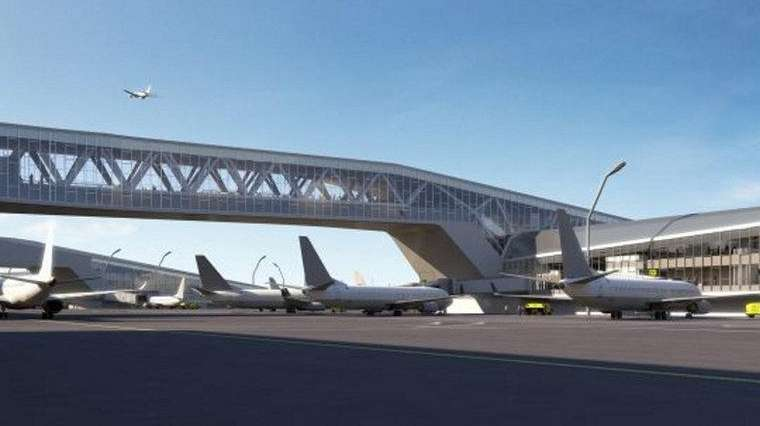 Pedestrian bridges will connect the new LaGuardia Airport