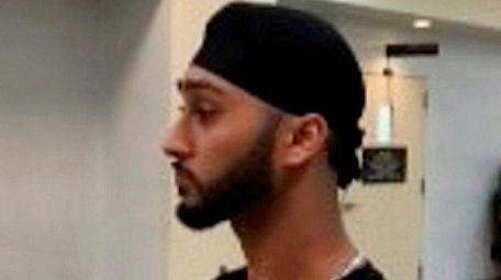 Satnam Singh, 22, of Queens, is seen in