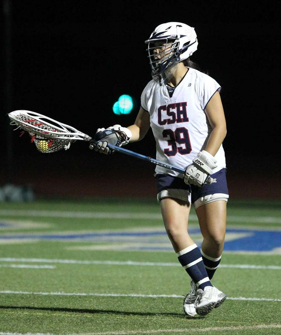 Cold Spring Harbor's Abbey Ngai (39) looks to