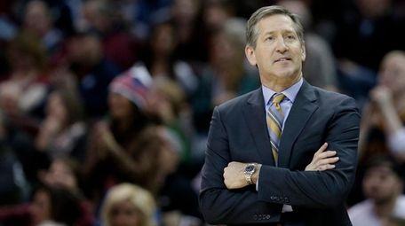 Phoenix Suns head coach Jeff Hornacek watches in