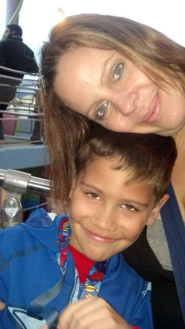 Camron Lamantia with his late mother, Christina Lamantia.