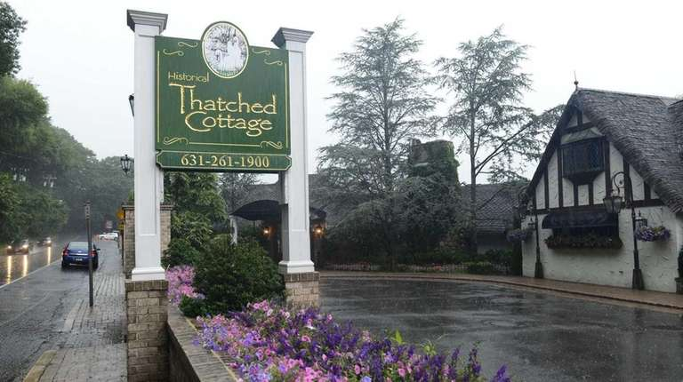 The Thatched Cottage in Centerport is seen on