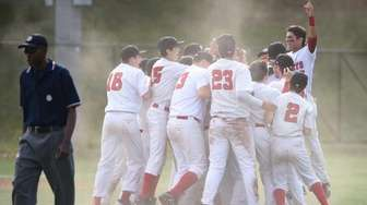 Wheatley players celebrate their 4-2 win against Center