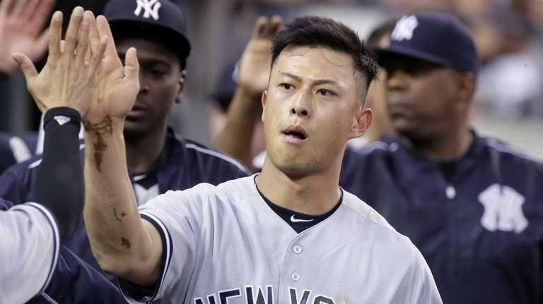 Rob Refsnyder #38 of the New York Yankees