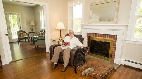 Nancy Burke with her dog Kiwi in the