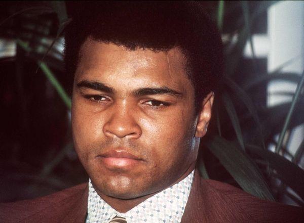 Muhammad Ali delivers a press conference on Nov.