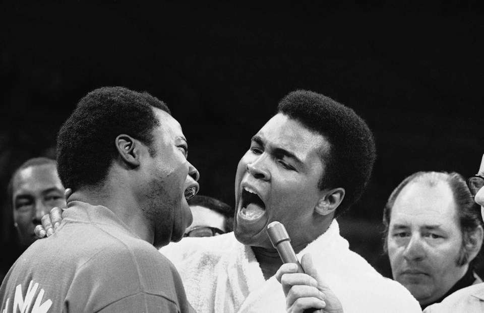 Muhammad Ali and his assistant trainer and friend