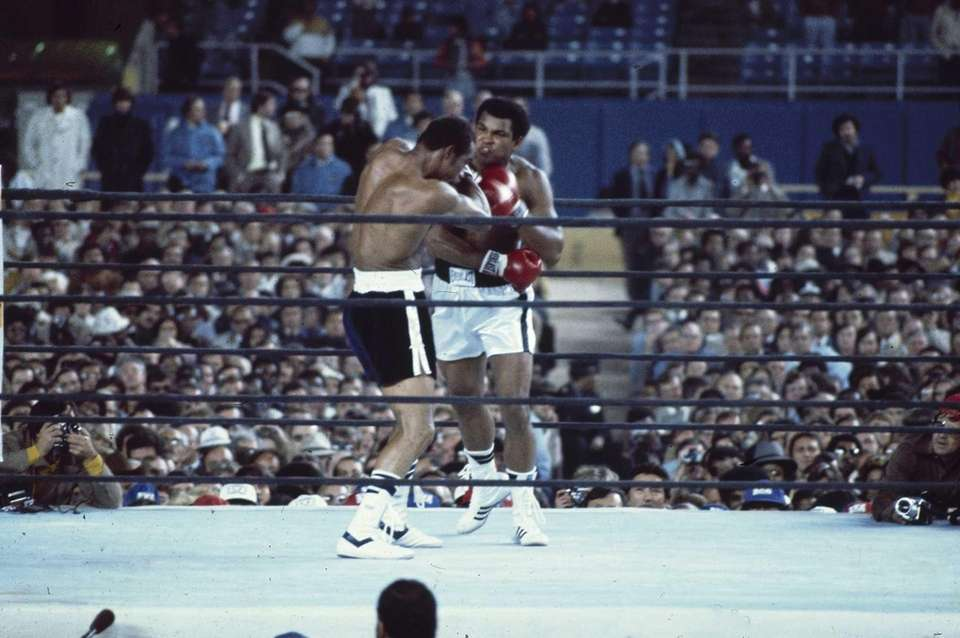 Muhammad Ali fights Ken Norton at Yankee Stadium,