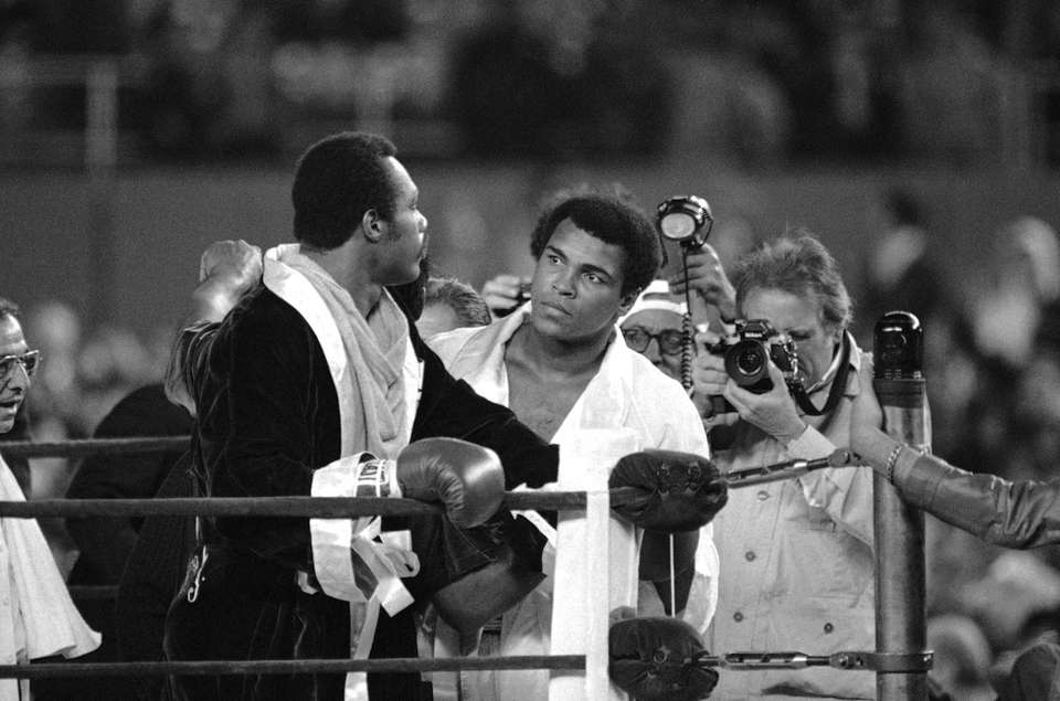 Champion Muhammad Ali walked over to heavyweight contender