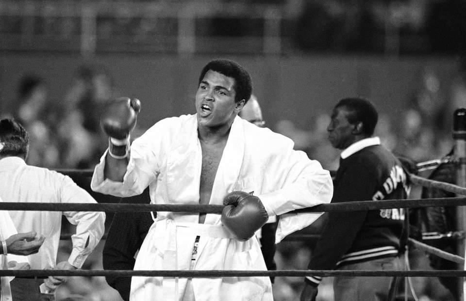 Muhammad Ali prior to the first round of