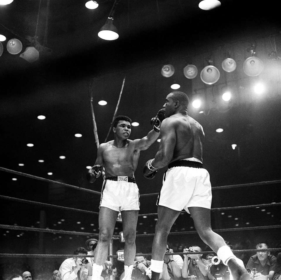 Challenger Muhammad Ali, or Cassius Clay as he